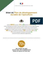 Bilan du Plan de développement durable de l'Apiculture