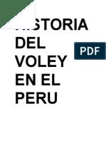 Historia Del Voley en El Peru
