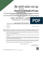 Gazette on Dissolving Sri Lanka Parliament and Holding General Election 2015