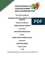 Informe de Segunda Jornada de Práctica Docente.