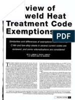 A Review of Postweld Heat Treatment Code Exemptions