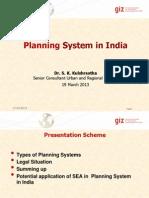 PlanningSysteminIndiaWS19Mar2013Kulshrestha