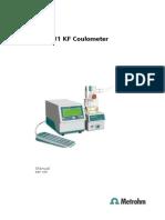 Manual 831 756 KF Coulometer ES