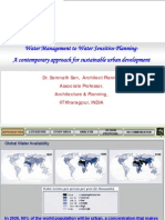 Prof. Sen-Water Management to Water Sensitive Planning