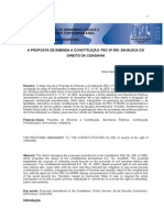 A proposta de emenda a constituição PEC-555