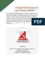 Programa Integral Nacional Para El Bienestar Familiar INABIF