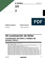 D155AX-6 40 Codigos de Fallas