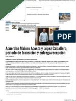 24-06-15 Acuerdan Maloro Acosta y López Caballero, periodo de transición y entrega recepción
