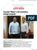 25-06-15 Acuerdan Maloro y ALC Transición y Entrega-recepción
