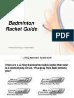 LN Badminton Racket Guide