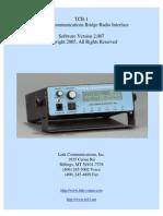 TCB-1 Manual 2007