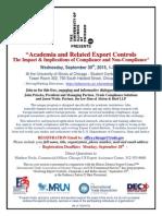 Chicago-September-30-Academia... Export Compliance...