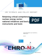 Retaining Critical Competences in Nuclear Energy Sector National Initiatives and Best Practices, Instruments and Tools