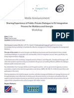 Media Announcement _ Sharing Experience of Public-Private Dialogue in EU Integration Process for Moldova and Georgia