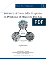 LTU-DT-0714-SE Influence of Green Pellet Properties on Pelletizing of Magnetite Iron Ore