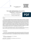 Successful Implementation of E-Learning