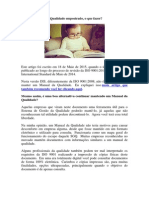 Manual Qualidade ISO 9001 2015