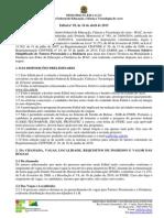 Edital Para Seleção de Tutores Presenciais e a Distância Nº 02, De 16 de Abril de 2015