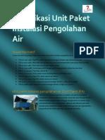 Spesifikasi Unit Paket Instalasi Pengolahan Air notes