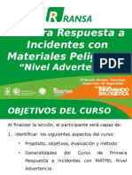 Primera Respuesta a Incidentes Matpel Nivel 1