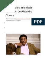 JNE Declara Infundada Apelación de Alejandro Yovera