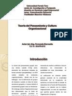 Teoría del pensamiento grupal y Cultura Organizacional