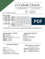 Bulletin for June 28, 2015