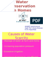 Water Conservation at Household Level
