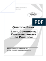 Question Bank on Limit Continuity and Differentiablity.pdf