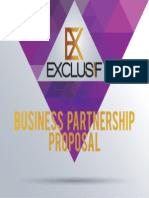 EXCLUSIF Partnership Proposal