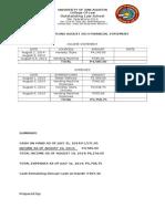Bar Operations August-september Financial Statement