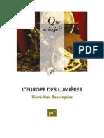 L'Europe Des Lumières-PUF (2013)