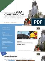 Gestión de la Construcción - Régimen de Construcción Civil