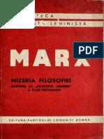 Karl Marx, Mizeria filozofiei