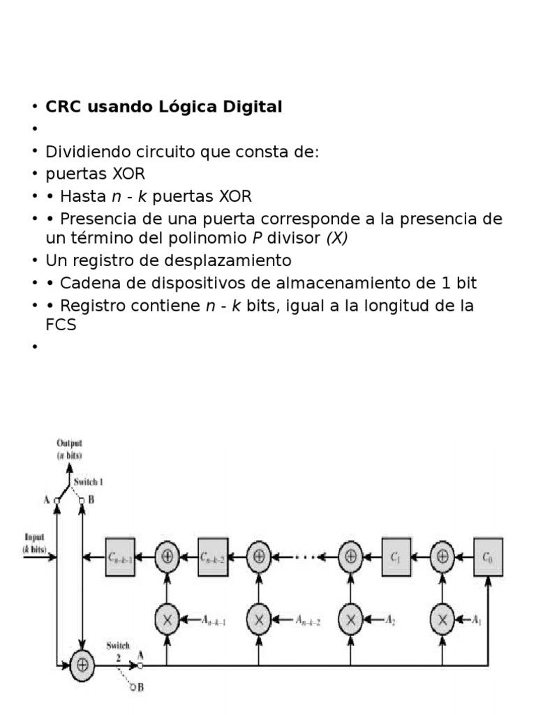 Circuito Xor : Crc logica.digital