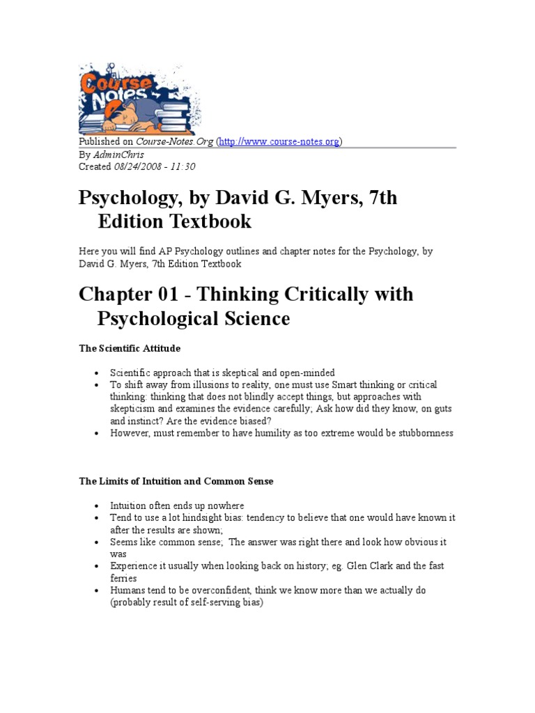 ap psychology chapter 3 outline Trying to prep for ap psychology this guide explains how to make a study plan, offers tips on preparing, and collects the best notes and quizzes.