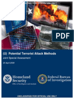 Potential Terrorist Attack Methods