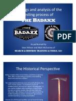 Badaxx Analysis Report PDF