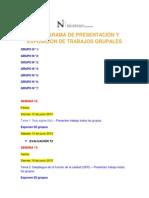 Cronograma Presentación Trabajos 2015-1