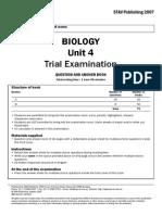 2007 STAV Biology Unit 4 Exam