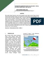 Studi Perhitungan Parameter Seismotektonik Wilayah Biak
