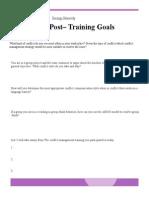 post training goals