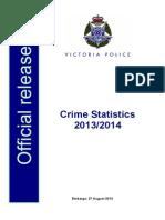 Crime Statistics 2013 14