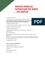 Codigos Oracle Administracion de Base de Datos