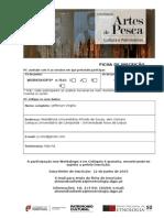 Ficha de Inscrição Artes de Pesca MNE
