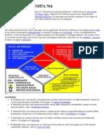 NFPA 704 Diamante de Materiales Peligrosos