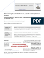 Dano Renal Agudo Por Sulfadiacina en Pacientes Con Toxoplasmosis Oftalmica