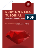 Ruby on Rails Tutorial Solutions Manual