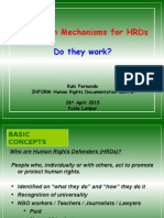 Protection Mechanisms for HRDs-Ruki-Kuala Lumpur-26April2015