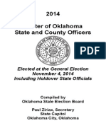 Oklahoma State and County Officers - 2014 State Roster